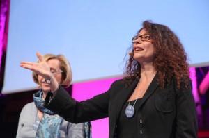 Anne Thévenet, lors de la première édition du Programme Eve à Evian, en 2011